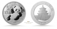 China Panda 2019 30 Gramm Silber