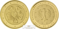 1/4 Oz Lutherrose BRD 50 Euro 2017 Gold Martin Luther Münze